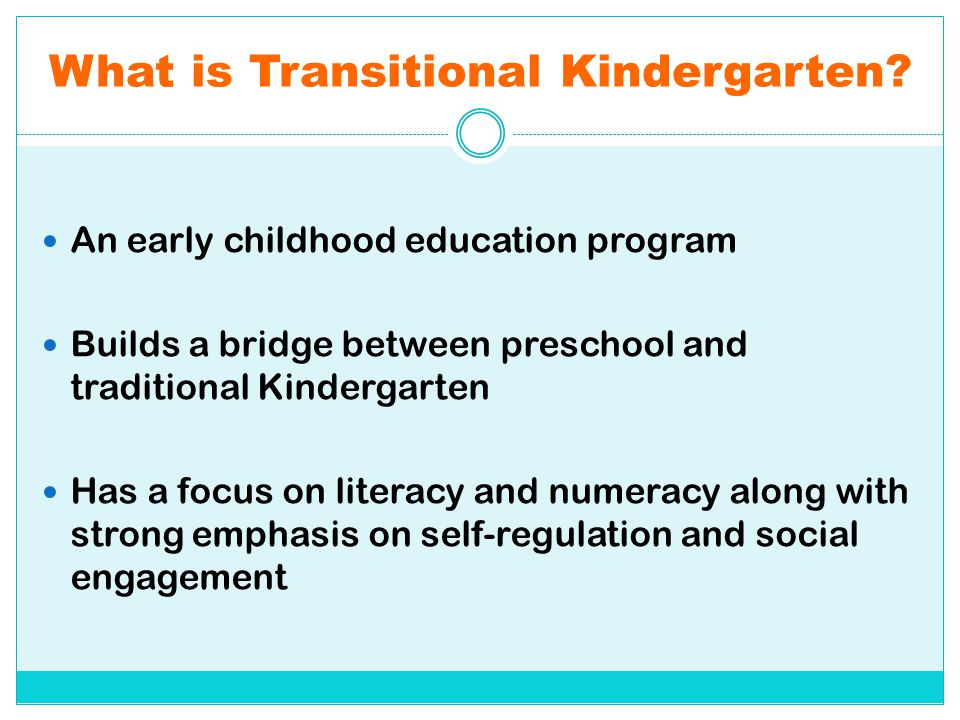 What is Transitional Kindergarten