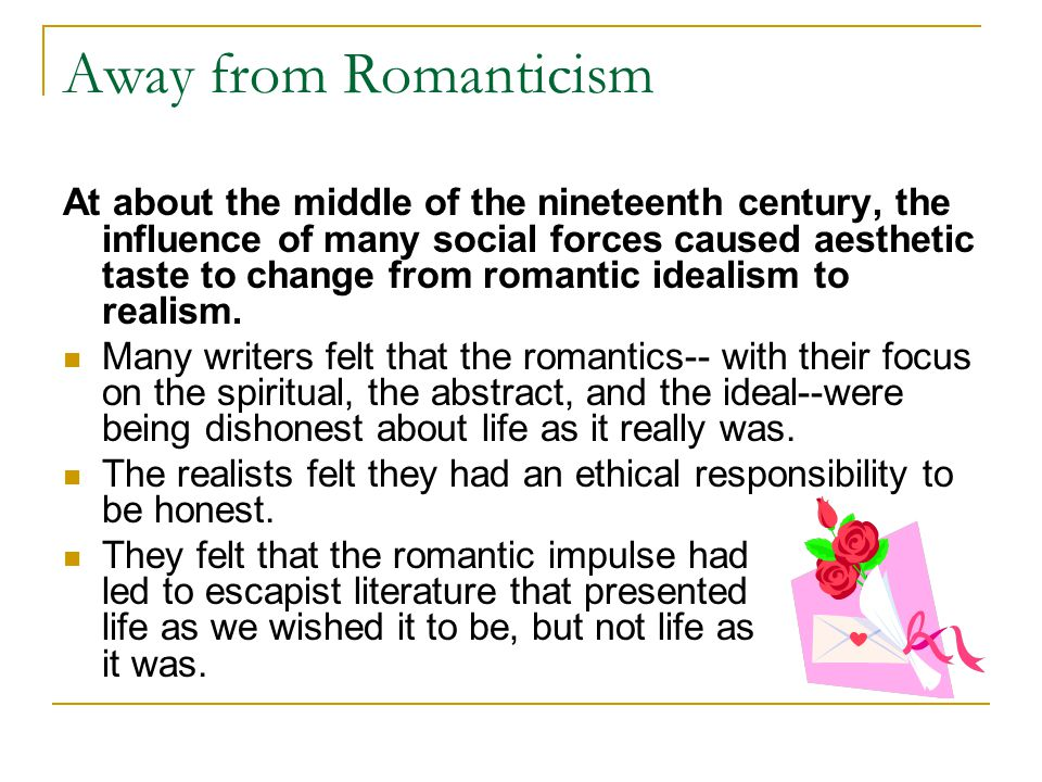 Away from Romanticism