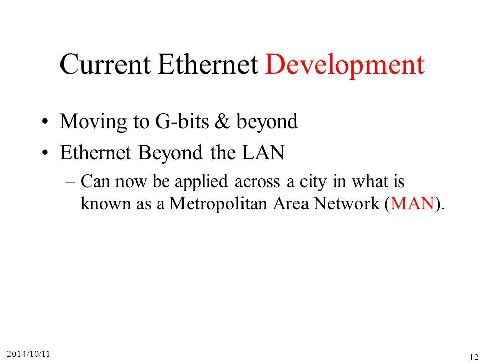 Current Ethernet Development