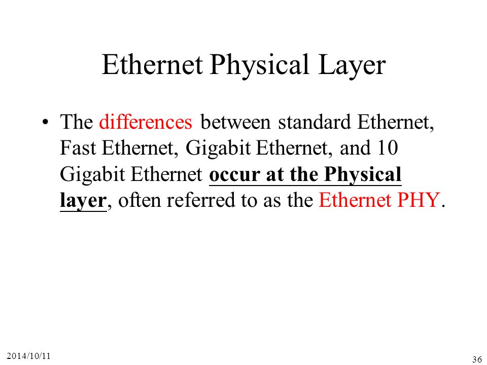 Ethernet Physical Layer