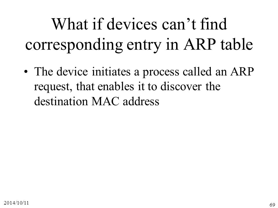 What if devices can't find corresponding entry in ARP table