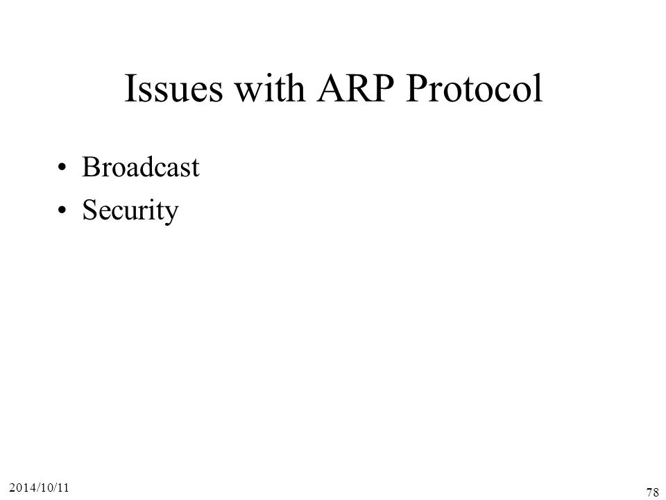 Issues with ARP Protocol