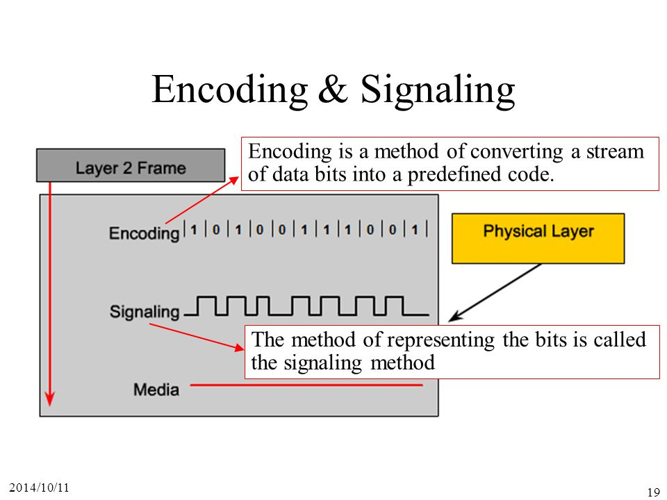 Encoding & Signaling Encoding is a method of converting a stream