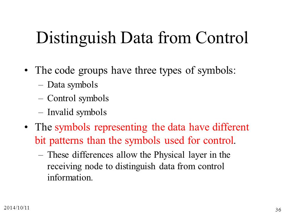 Distinguish Data from Control