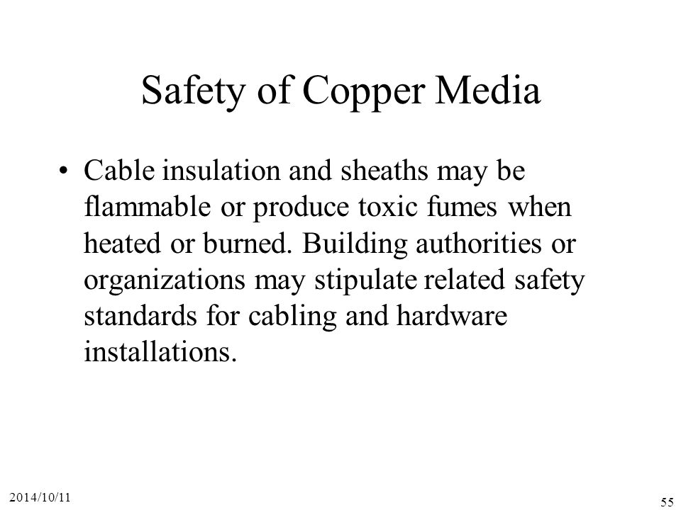 Safety of Copper Media