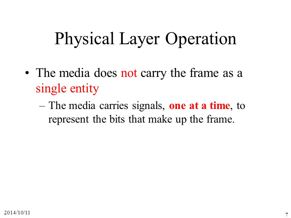 Physical Layer Operation