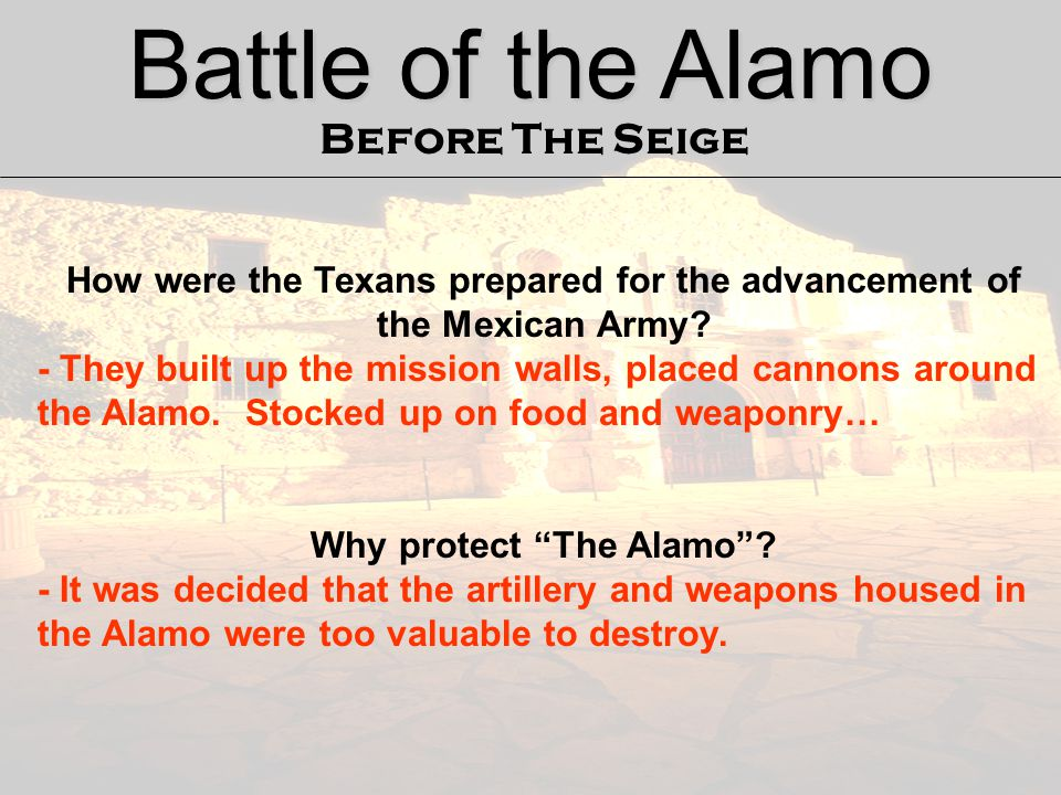 Battle of the Alamo Before The Seige