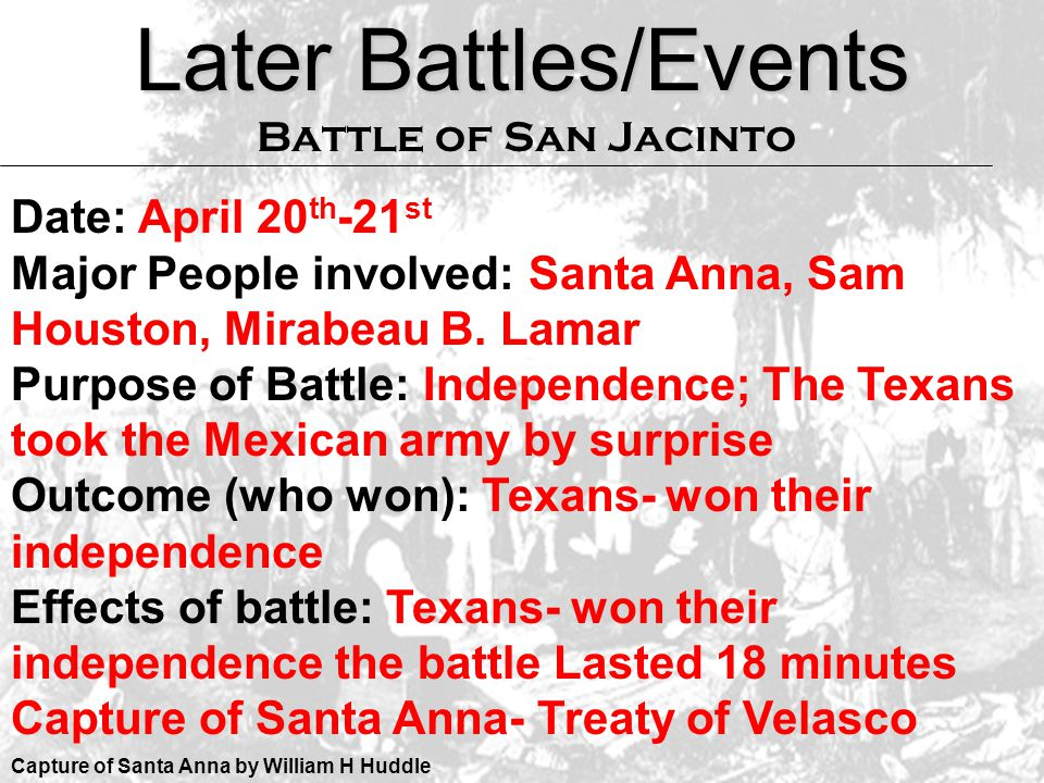 Later Battles/Events Date: April 20th-21st