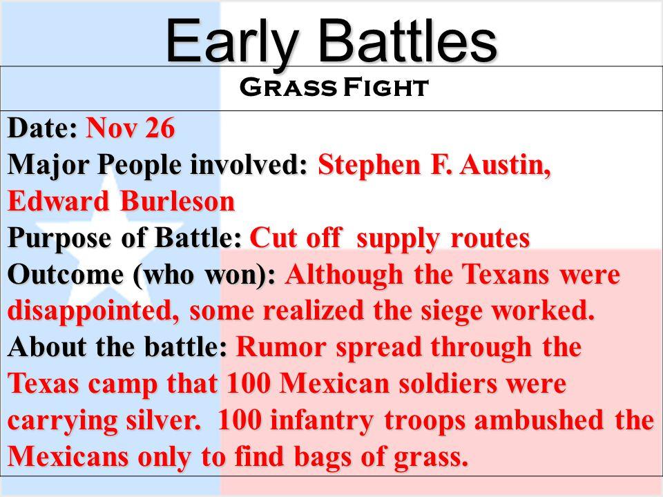Early Battles Date: Nov 26