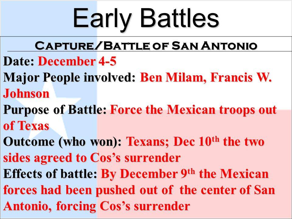 Capture/Battle of San Antonio