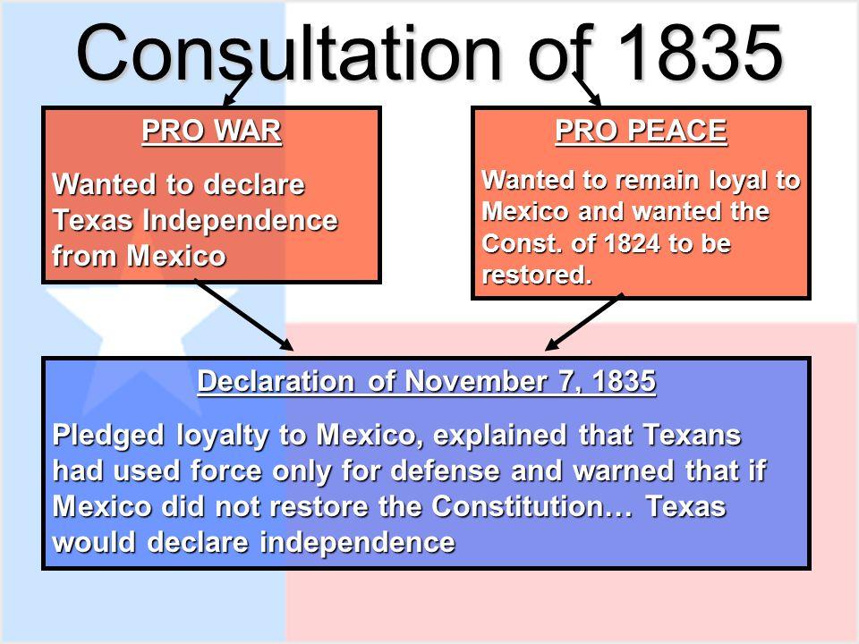 Declaration of November 7, 1835