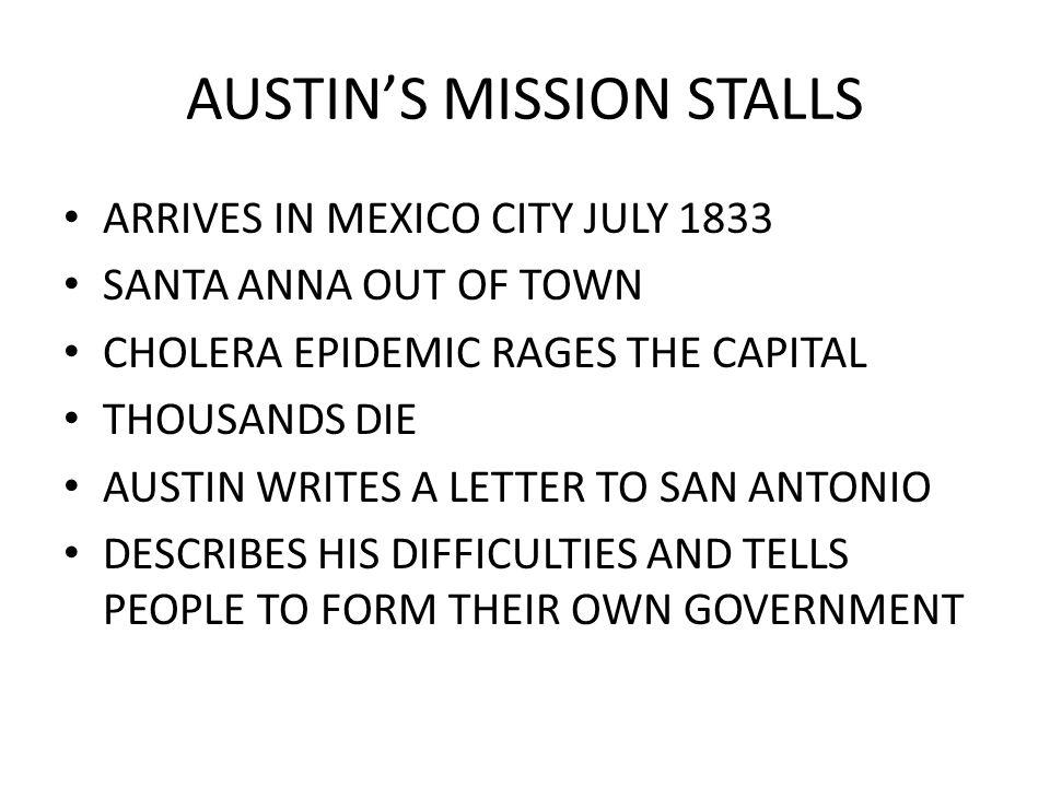 AUSTIN'S MISSION STALLS