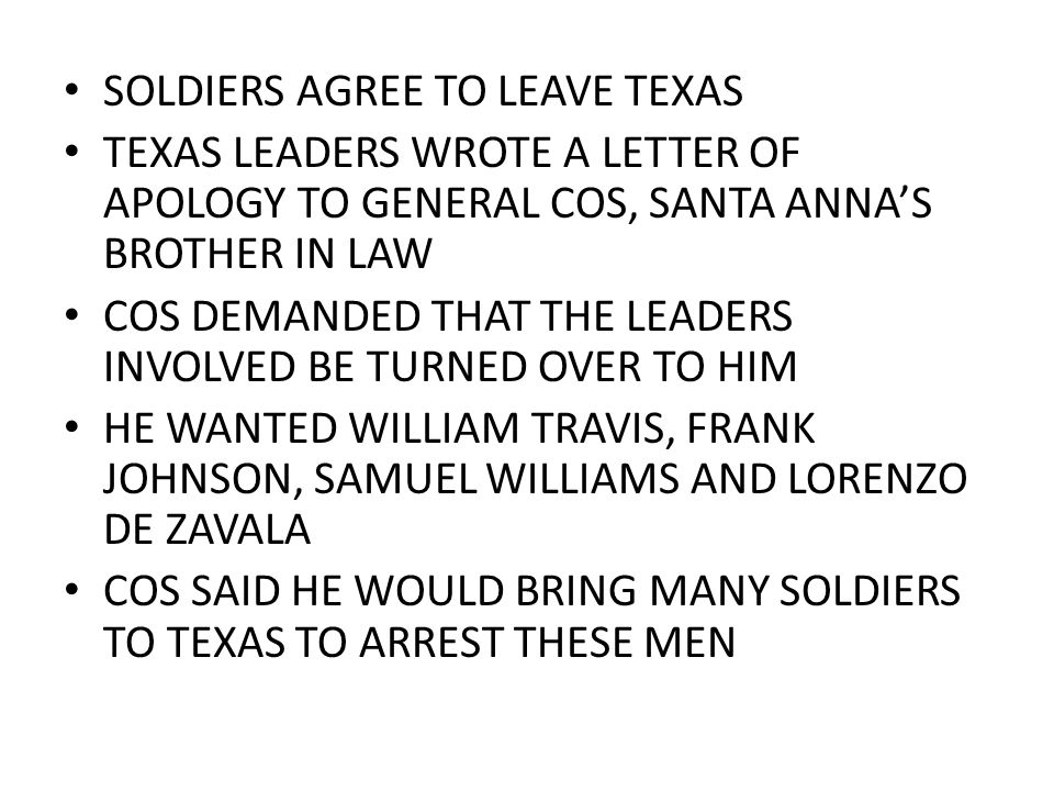 SOLDIERS AGREE TO LEAVE TEXAS