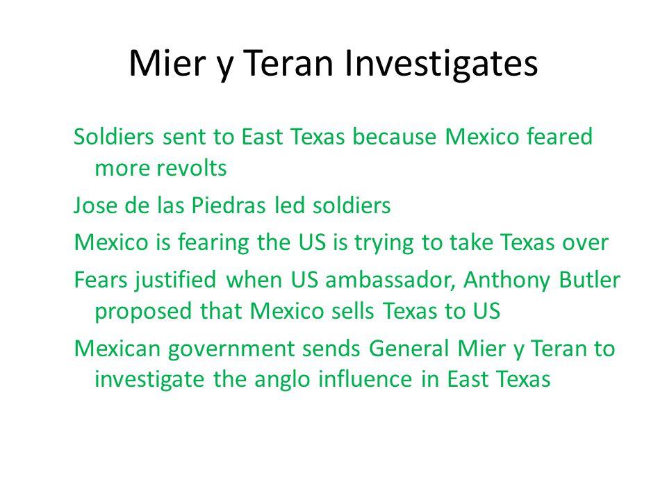 Mier y Teran Investigates
