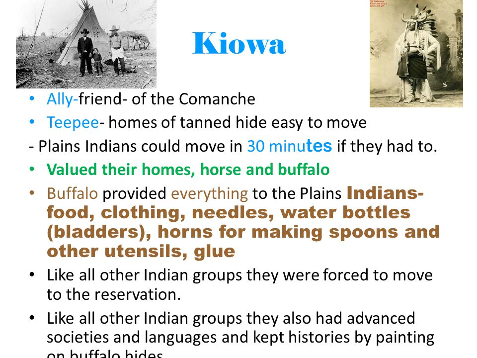 Kiowa Ally-friend- of the Comanche