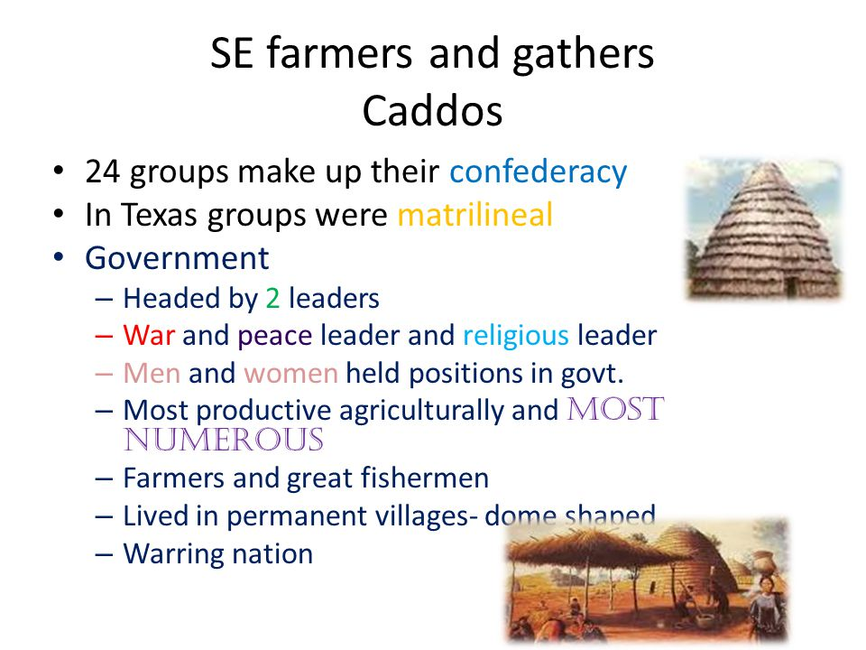 SE farmers and gathers Caddos