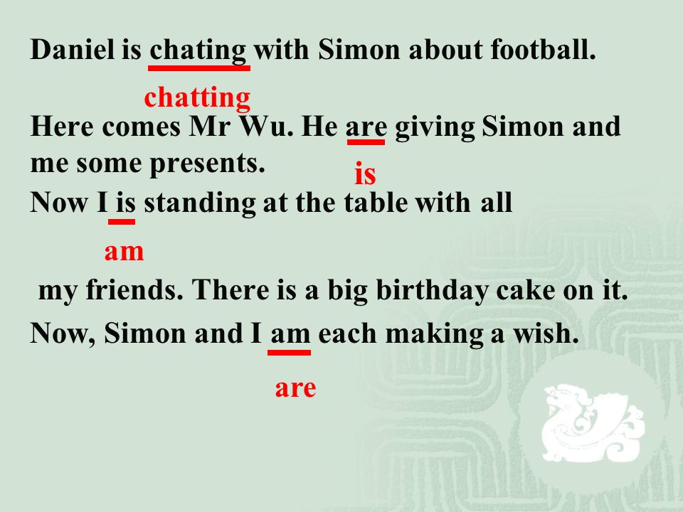 is Daniel is chating with Simon about football.