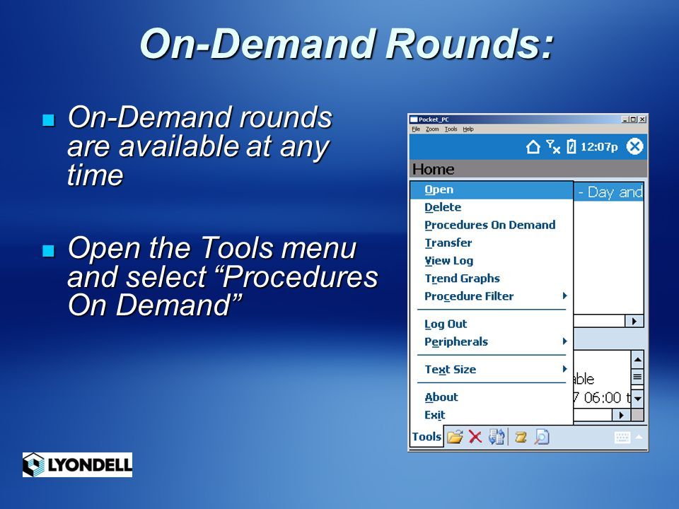 On-Demand Rounds: On-Demand rounds are available at any time