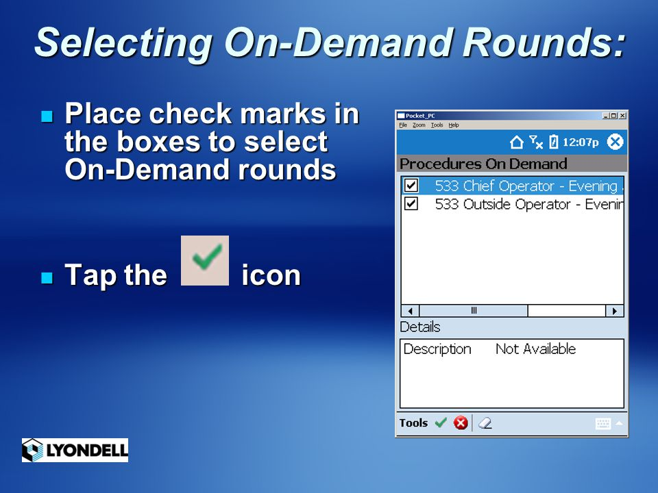 Selecting On-Demand Rounds: