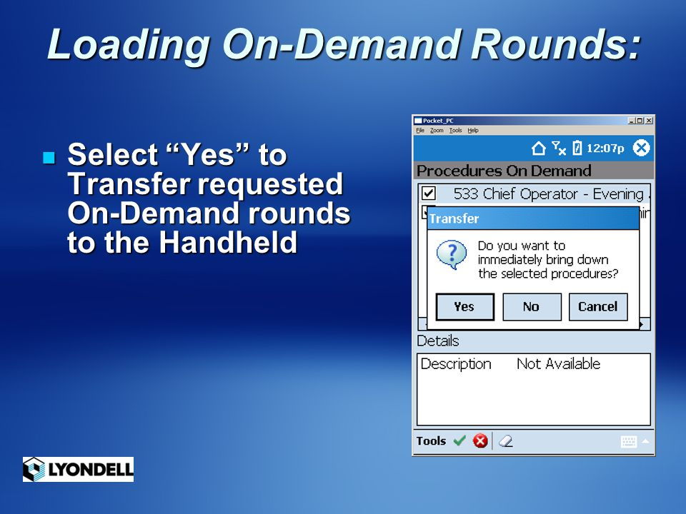 Loading On-Demand Rounds:
