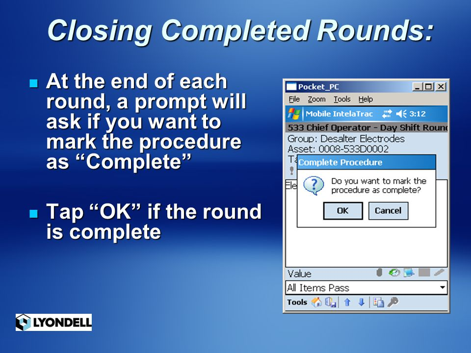 Closing Completed Rounds: