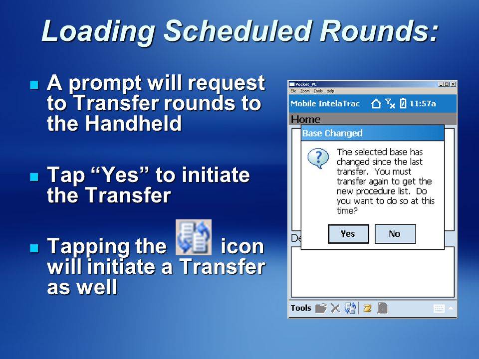 Loading Scheduled Rounds: