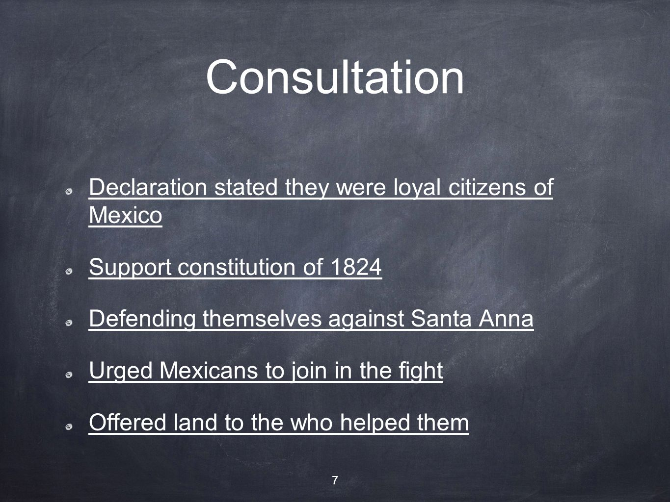 Consultation Declaration stated they were loyal citizens of Mexico