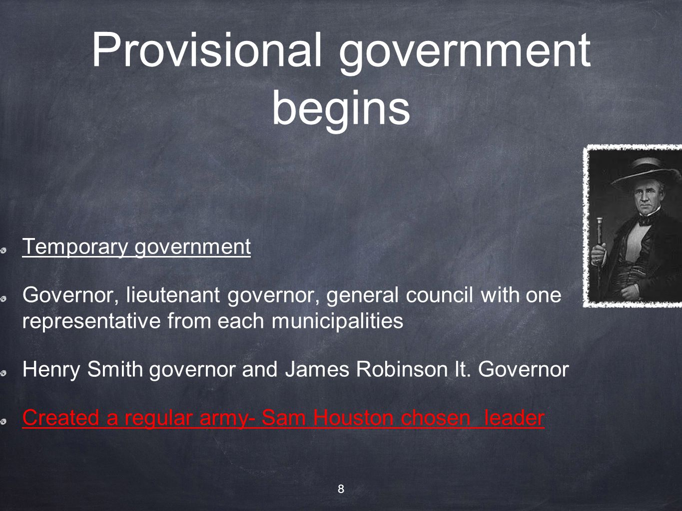 Provisional government begins