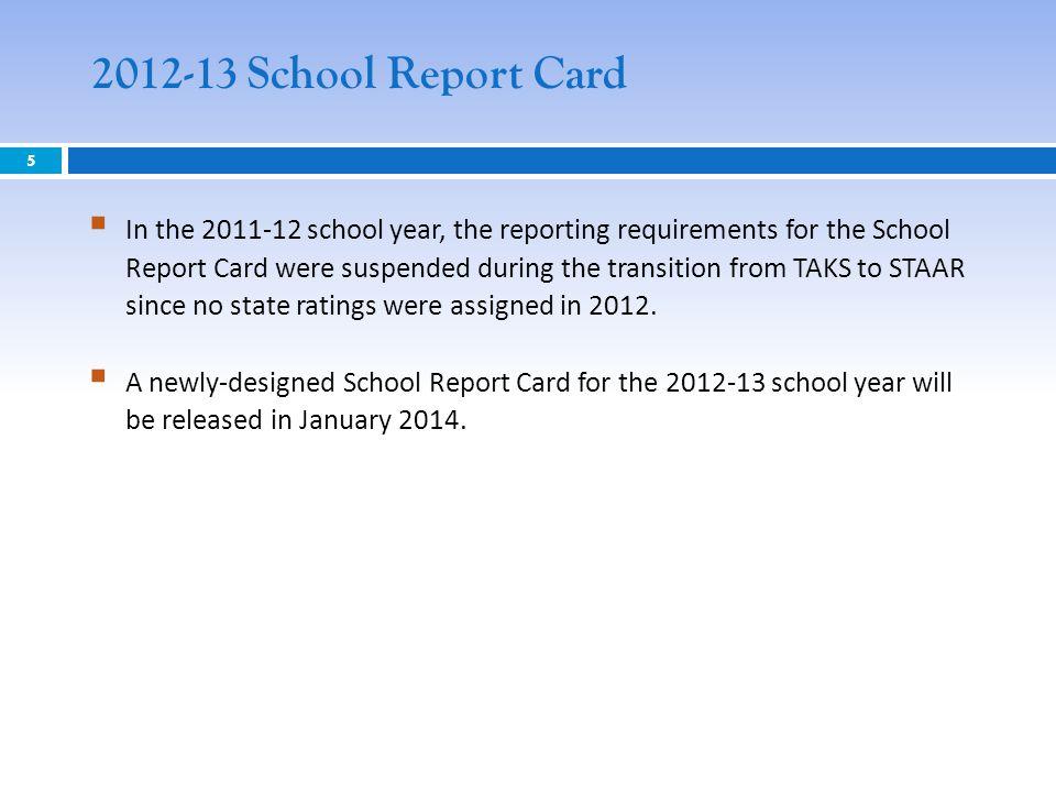 2012-13 School Report Card