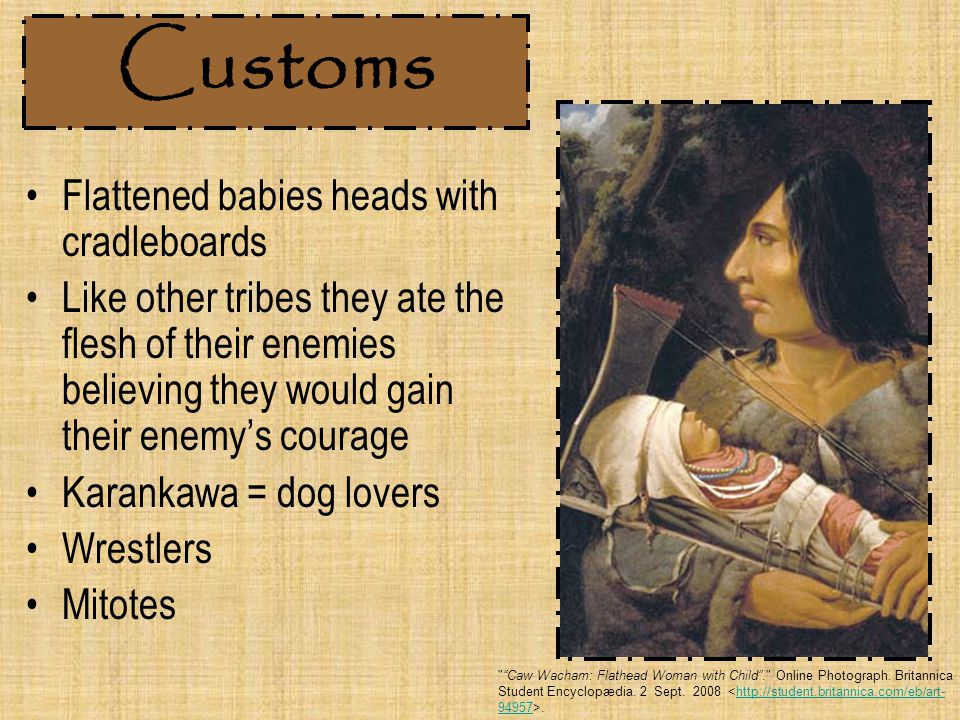 Customs Flattened babies heads with cradleboards