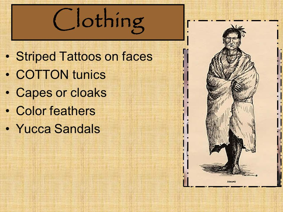 Clothing Striped Tattoos on faces COTTON tunics Capes or cloaks