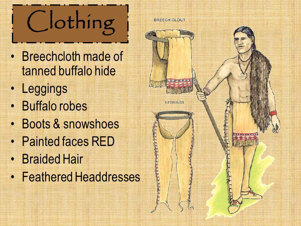 Clothing Breechcloth made of tanned buffalo hide Leggings
