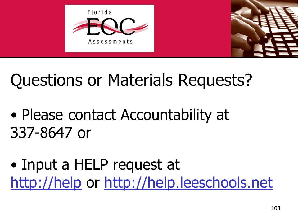 Questions or Materials Requests