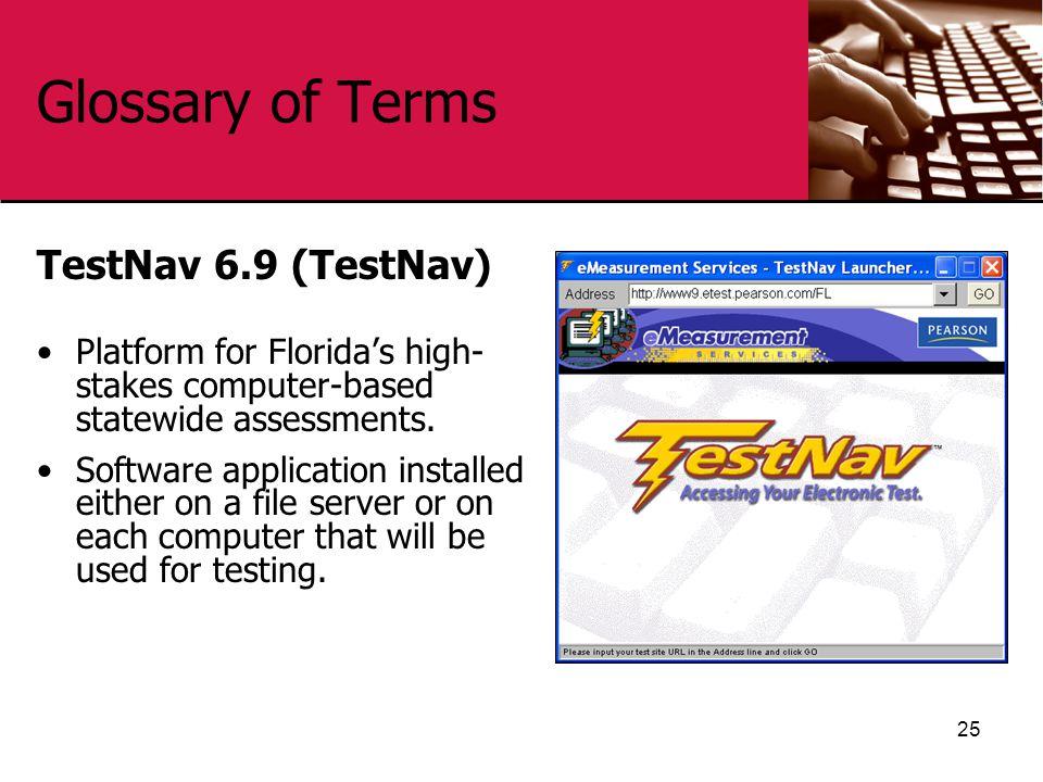 Glossary of Terms TestNav 6.9 (TestNav)