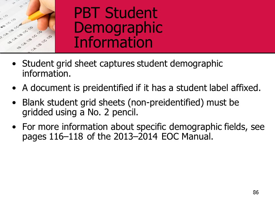 PBT Student Demographic Information