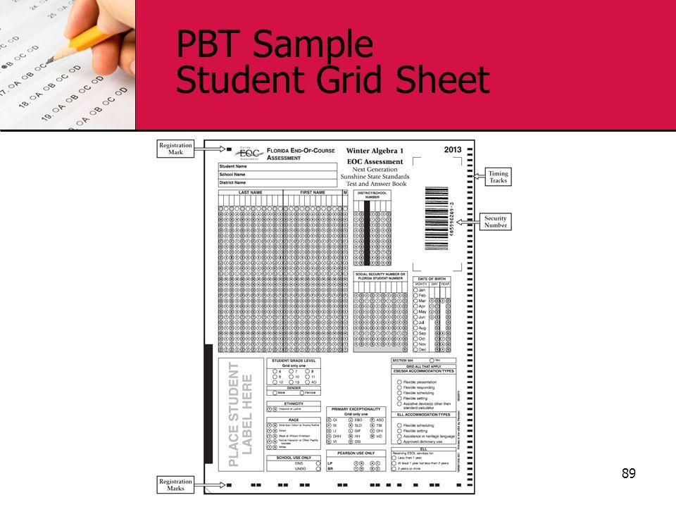 PBT Sample Student Grid Sheet