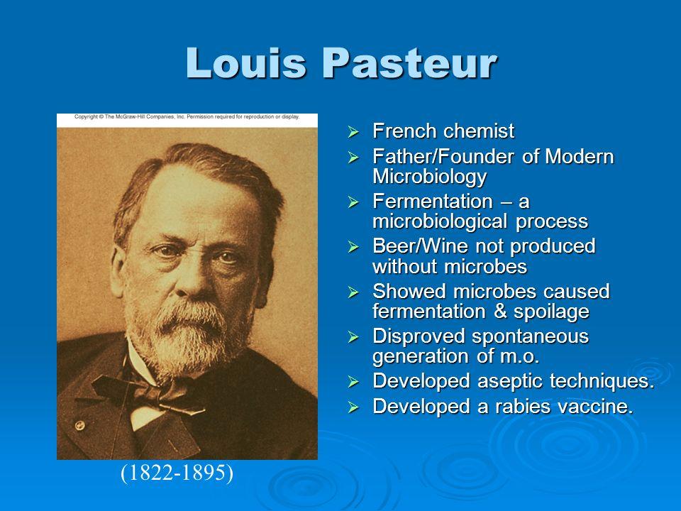 Louis Pasteur (1822-1895) French chemist