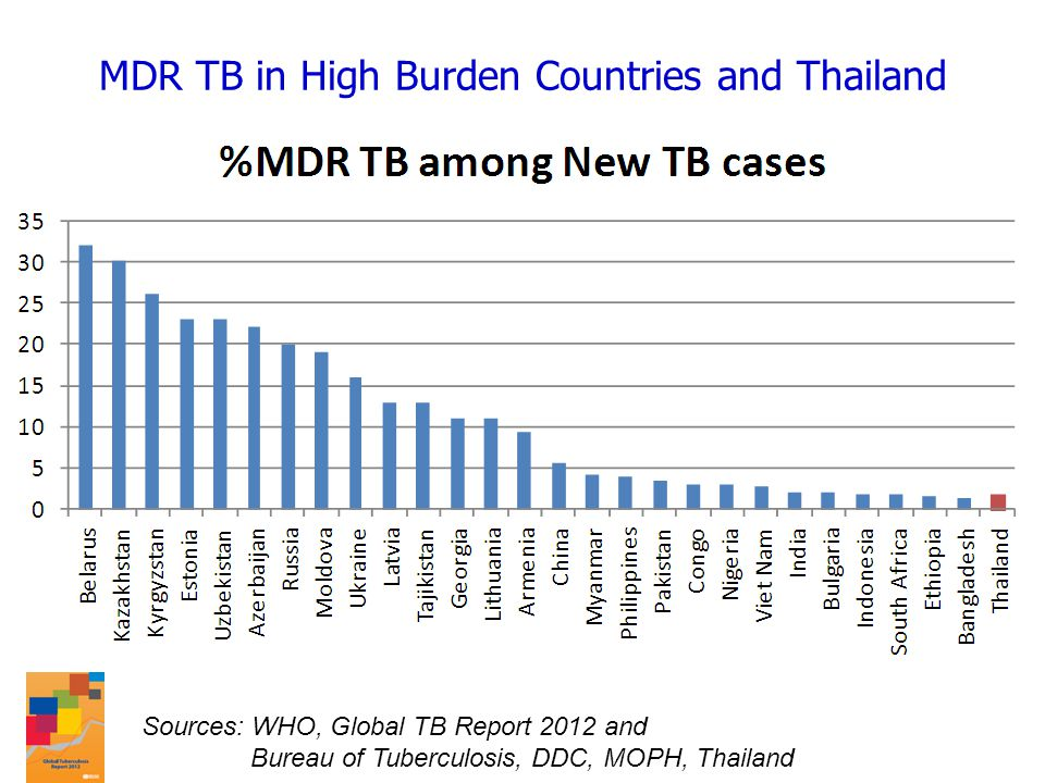 MDR TB in High Burden Countries and Thailand