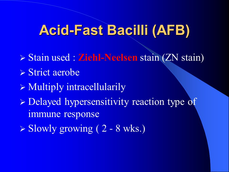 Acid-Fast Bacilli (AFB)