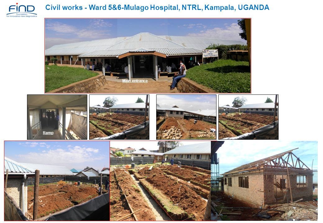 Civil works - Ward 5&6-Mulago Hospital, NTRL, Kampala, UGANDA