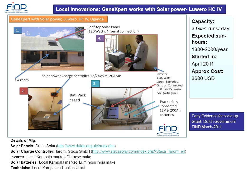 Local innovations: GeneXpert works with Solar power- Luwero HC IV