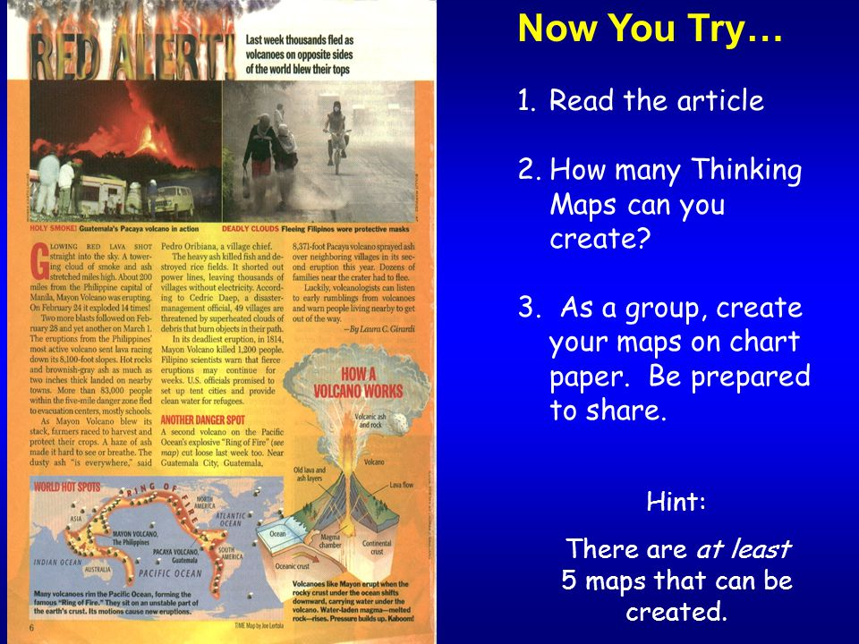 There are at least 5 maps that can be created.