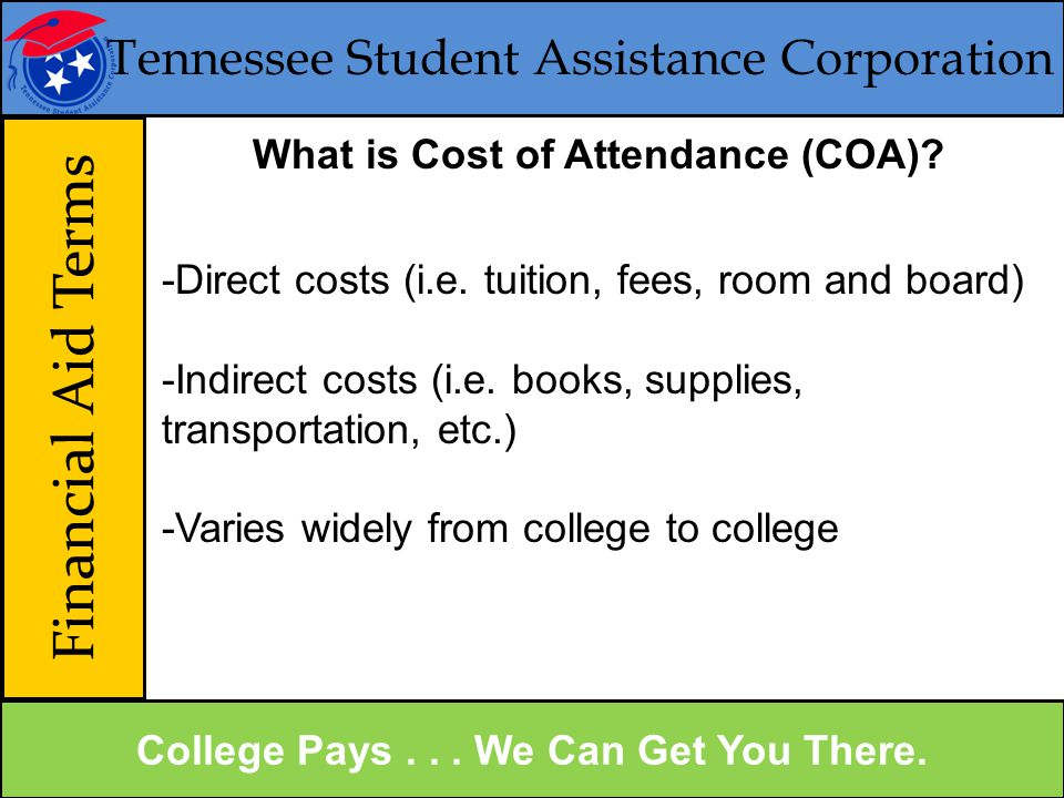 Financial Aid Terms Tennessee Student Assistance Corporation