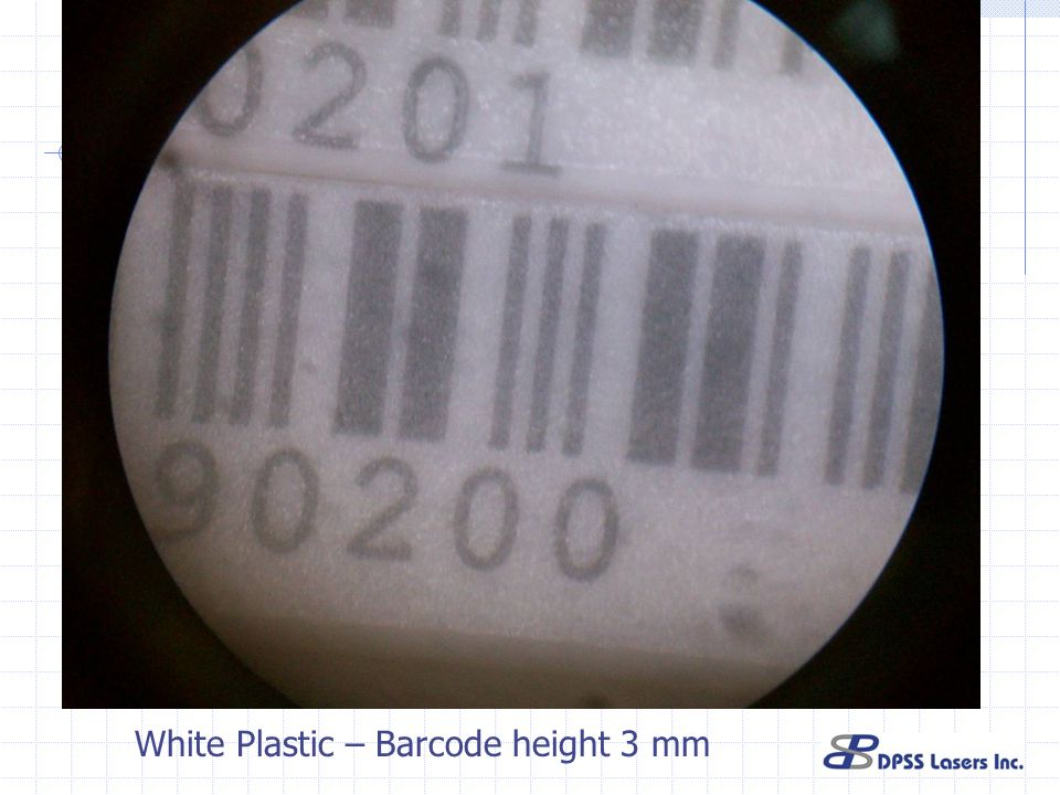 White Plastic – Barcode height 3 mm
