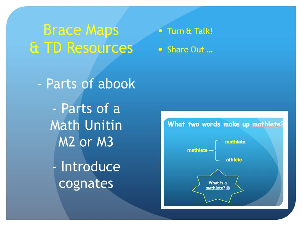 Brace Maps & TD Resources