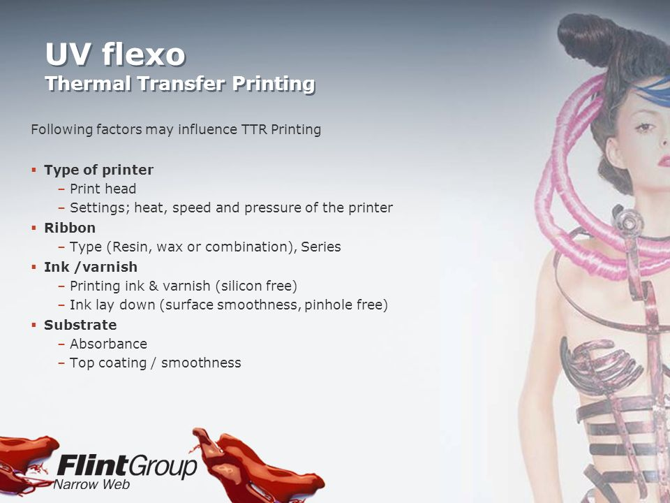 UV flexo Thermal Transfer Printing