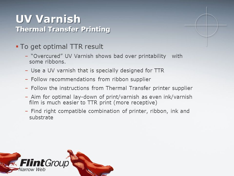 UV Varnish Thermal Transfer Printing