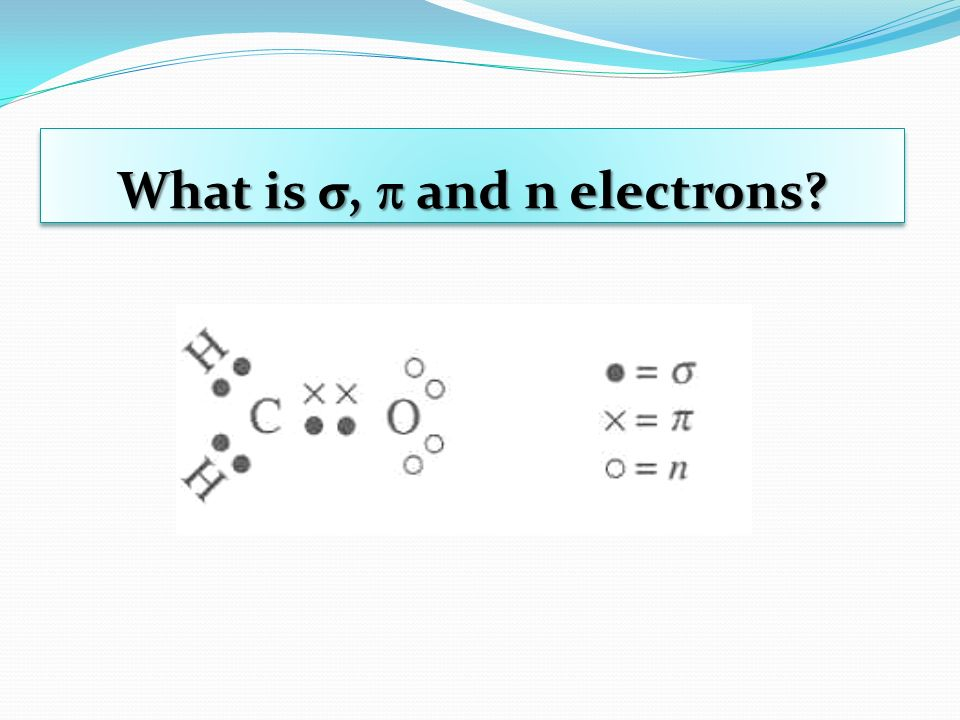 What is σ,  and n electrons