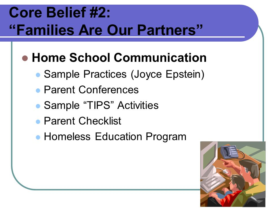 Core Belief #2: Families Are Our Partners