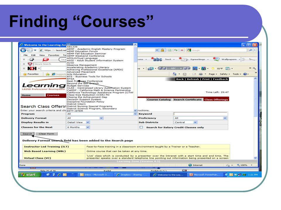 Finding Courses